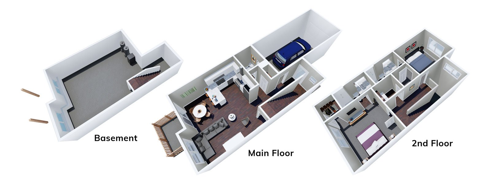 2 Bedroom Homes at The Hanover Townhomes of Caledonia
