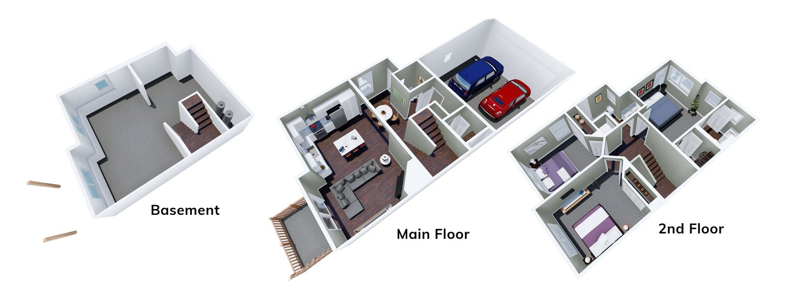 3 Bedroom homes at The Hanover Townhomes of Caledonia