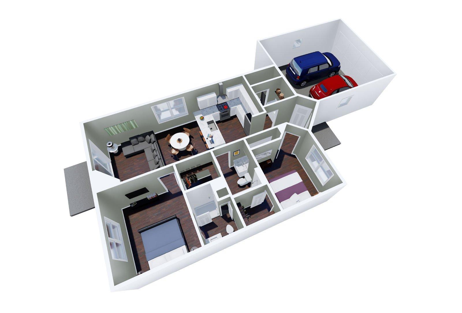 Geranium Floor Plan 3D