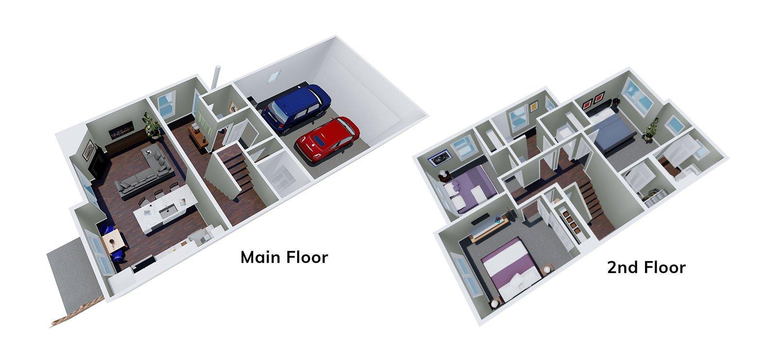 Lilac Floor Plan 3D