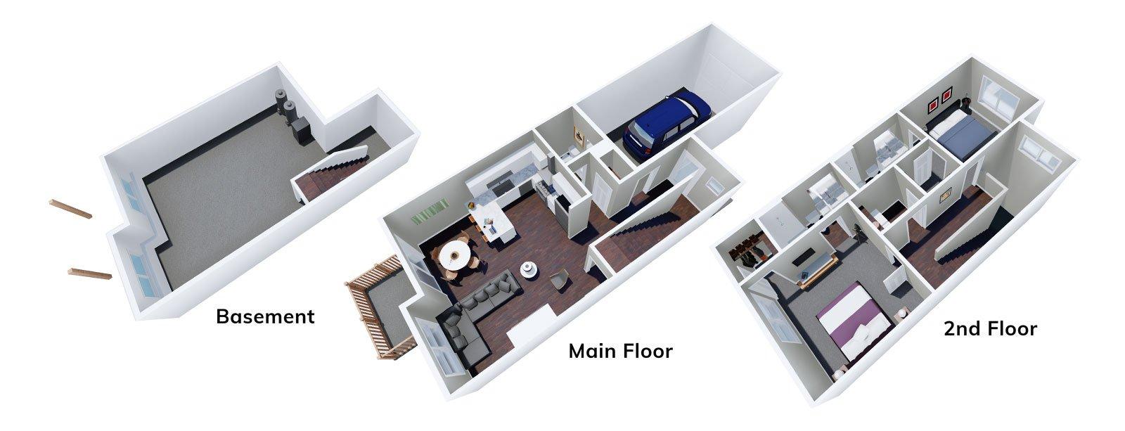 Marigold Floor Plan 3D