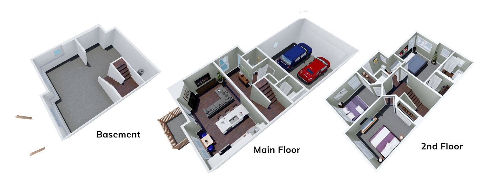 Sunflower Floor Plan 3D